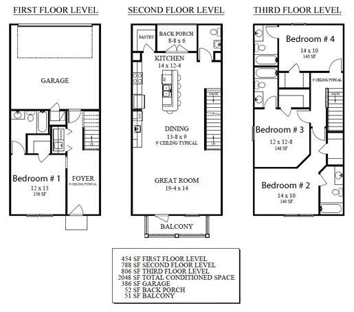 Campus Block floor plan 1-5